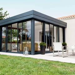 Modern conservatory by Yapısan Cephe Sist.San.ve Tic.Ltd.Şti. Modern Aluminium/Zinc