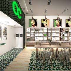 Optica Colombiana, CC Gran Estacion: Espacios comerciales de estilo  por Gamma,