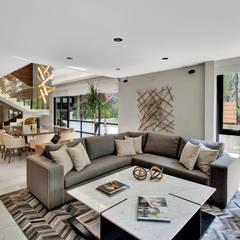 CASA POLANCO: Salas de estilo  por PEONIA INTERIORES, Moderno