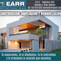 DRO: Casas multifamiliares de estilo  por EARR CONSTRUCCIONES, S.A. DE C.V., Minimalista