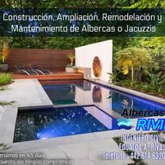 Garden Pool by EARR CONSTRUCCIONES, S.A. DE C.V., Minimalist Reinforced concrete