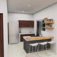 Small kitchens by JGV Arquitectura,