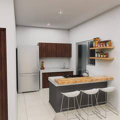 Petites cuisines de style  par JGV Arquitectura,