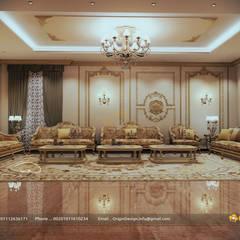 Classic Majlis :  غرفة المعيشة تنفيذ origindesign.design, حداثي