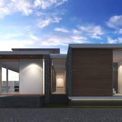 Casa en el Campo G2: Casas de campo de estilo  por Geometrica Arquitectura, Moderno