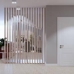 Летнее настроение 2. Мансардный этаж: Лестницы в . Автор – Goroh бюро, Модерн