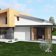 Passive house by ABITAlab S.r.l., Modern Wood Wood effect