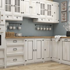 Built-in kitchens by Meblo-Wosk, Country لکڑی Wood effect