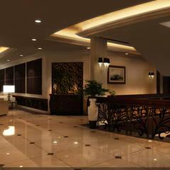 New Cairo Palace Project الممر الحديث، المدخل و الدرج من smarthome حداثي
