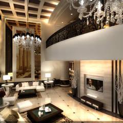New Cairo Palace Project:  بلكونة أو شرفة تنفيذ smarthome,