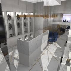 Damla Vurguncu İç Mimarlık – SERKAN KUYUMCULUK & MÜCEVHERAT:  tarz Dükkânlar, Modern Granit