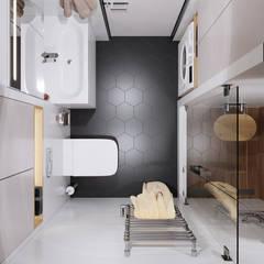 Цветотерапия: Ванные комнаты в . Автор – Goroh бюро, Модерн