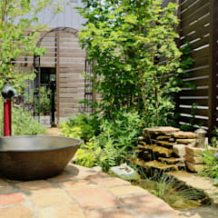Garden Pond by 株式会社Garden TIME, Country Bricks