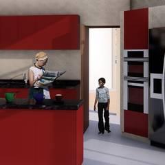 Casa de Playa Antonia: Cocinas de estilo  por Arq. Bruno Agüero,