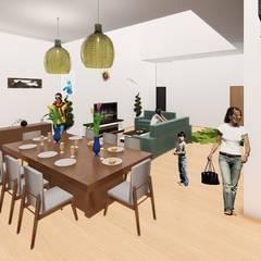 Casa de Playa Antonia: Comedores de estilo  por Arq. Bruno Agüero, Moderno