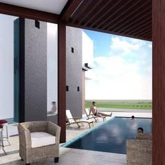 Casa de Playa Antonia: Piscinas de estilo  por Arq. Bruno Agüero, Moderno