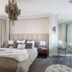 Apartament pod Wawelem: styl , w kategorii Sypialnia zaprojektowany przez Perihdesign Studio Projektowe Karolina Perih-Kamecka,