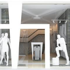 KALYA İÇ MİMARLIK \ KALYA INTERIOR DESIGN – Giyim Mağazası Tasarımı:  tarz Dükkânlar, Modern Ahşap Ahşap rengi