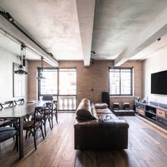 Apartamento Itaim Salas de estar escandinavas por LCAC Arquitetura Escandinavo Concreto
