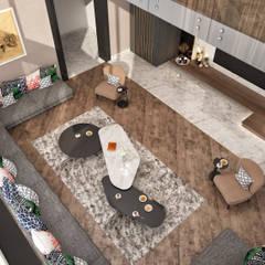 Minimalismo Design – Libya Konut İç Tasarımı:  tarz Oturma Odası,