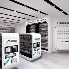 """Concept Store """"Coolbox"""" - Aeropuerto Jorge Chavéz.: Espacios comerciales de estilo  por Jorge Levano, Moderno"""