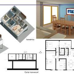 Casas pequeñas de estilo  por Pro-Pedregales Arquitectura  , Minimalista