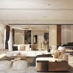 LAMAN HIJAU LOT 32, PRIVATE RESIDENT:  Living room by THE MAXIMALIST DESIGN, Modern Plywood
