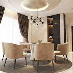 LAMAN HIJAU LOT 32, PRIVATE RESIDENT:  Dining room by THE MAXIMALIST DESIGN, Modern Plywood