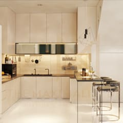 LAMAN HIJAU LOT 32, PRIVATE RESIDENT:  Built-in kitchens by THE MAXIMALIST DESIGN,