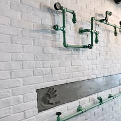 清爽簡約的甜點店-CV甜點沙龍:  餐廳 by 圓方空間設計, 簡約風 合板