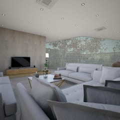 تصميم استراحة :  غرفة المعيشة تنفيذ عبدالسلام أحمد سعيد, حداثي