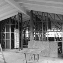 Rumah pasif oleh ABITAlab S.r.l., Modern Kayu Wood effect