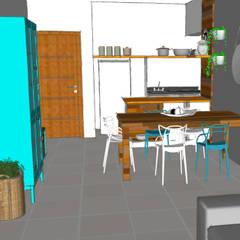 Armarios de cocinas de estilo  por Estudio61.ArquiDecor, Tropical