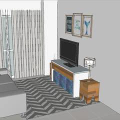 Ambiente Integrado para uma Nova Família! Salas de estar escandinavas por Estudio61.ArquiDecor Escandinavo
