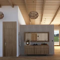 Koridor dan lorong oleh arQmonia estudio, Arquitectos de interior, Asturias