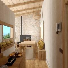 الممر والمدخل تنفيذ arQmonia estudio, Arquitectos de interior, Asturias,