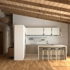 آشپزخانه توسطarQmonia estudio, Arquitectos de interior, Asturias