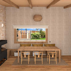 Ruang Makan oleh arQmonia estudio, Arquitectos de interior, Asturias