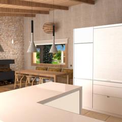arQmonia estudio, Arquitectos de interior, Asturiasが手掛けたダイニング, 地中海