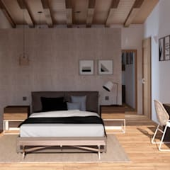 Bedroom by arQmonia estudio, Arquitectos de interior, Asturias, Mediterranean