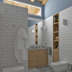 حمام تنفيذ arQmonia estudio, Arquitectos de interior, Asturias , بحر أبيض متوسط