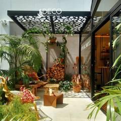 Techos sol y sombra : Terrazas de estilo  por DecoPaneles Peru, Moderno