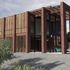 Passive house by Desarrolladora Raju, S.A. de C.V., Minimalist Bamboo Green