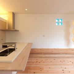 鈴鹿の家: 岩井文彦建築研究所が手掛けたシステムキッチンです。,ミニマル