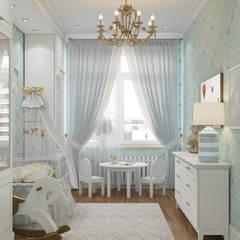 Dormitorios de bebé de estilo  por «Студия 3.14», Clásico