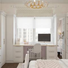 غرفة نوم بنات تنفيذ «Студия 3.14», كلاسيكي