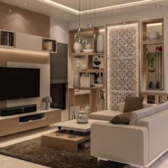 :  Living room by De Panache  - Interior Architects,Modern
