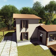 منزل ريفي تنفيذ Apis arquitetura e interiores,