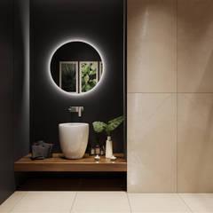 Минимализм с элементами лофта: Ванные комнаты в . Автор – «Студия 3.14»,