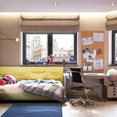 Минимализм с элементами лофта: Спальни для мальчиков в . Автор – «Студия 3.14», Минимализм